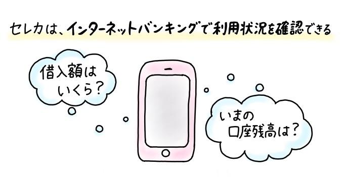 静岡銀行カードローン「セレカ」はインターネットバンキングで入出金明細の照会が可能